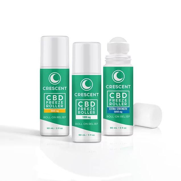 CBD Rollers for Pain -- 1,000 mg, 3,000 mg, 5,000 mg