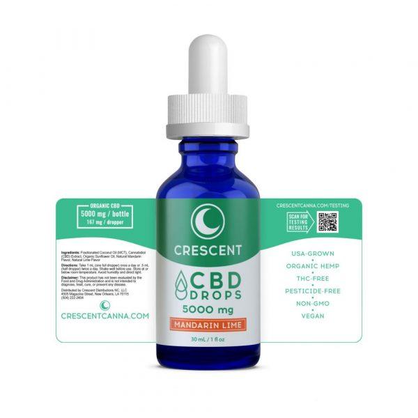 Extra Strength CBD Drops Mandarin Lime Label Unwrapped